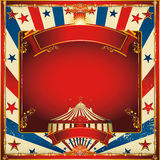 Fondo agradable del circo de la vendimia con la tapa grande Imágenes de archivo libres de regalías