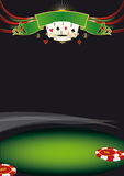 Fondo agradable del póker Imagenes de archivo