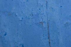 Fondo agrietado azul de la textura Fotos de archivo libres de regalías