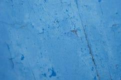 Fondo agrietado azul de la textura Imagen de archivo