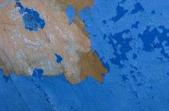 Fondo agrietado azul de la textura Fotografía de archivo libre de regalías