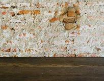 Fondo agrietado de la pared de ladrillo del Grunge Imagen de archivo libre de regalías