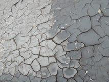 Fondo agrietado de la tierra Modelo agrietado del fango Fotos de archivo libres de regalías