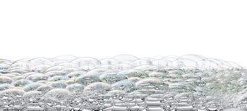 Fondo aislado de la espuma de las burbujas Fotos de archivo