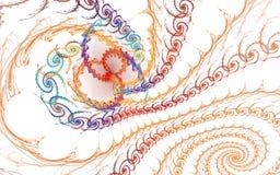 Fondo aislado fractal Foto de archivo
