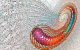 Fondo aislado fractal Imagen de archivo libre de regalías
