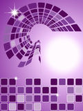 Fondo ajustado púrpura abstracto stock de ilustración