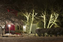 Fondo al aire libre de la decoración de la Navidad Imagen de archivo libre de regalías