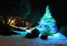 Fondo al aire libre de la decoración de la Navidad y del Año Nuevo Imagen de archivo libre de regalías