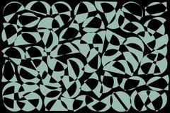 Fondo al azar azul y negro de los semic?rculos Modelo geom?trico abstracto de las formas en el estilo retro para la impresi?n de  libre illustration