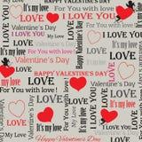 Fondo al día de tarjeta del día de San Valentín en estilo del vintage Conjunto 4 Vector Imágenes de archivo libres de regalías