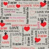 Fondo al día de tarjetas del día de San Valentín en estilo del vintage Conjunto 4 Vector Imagen de archivo libre de regalías