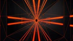 fondo al neon arancio di moto di Loopable del tunnel 3D illustrazione di stock