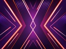 Fondo al neon astratto di vettore Modello brillante luminoso illustrazione vettoriale