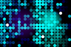 Fondo al neon blu con i cerchi illustrazione di stock
