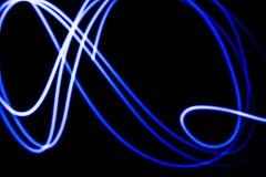 Fondo al neon blu futuristico astratto Immagini Stock