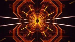 fondo al neon di moto di Loopable del tunnel dell'oro arancio 3D royalty illustrazione gratis