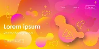 Fondo al neon di pendenza orizzontale futuristica di vettore illustrazione di stock