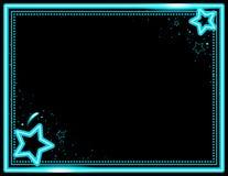 Fondo al neon di Starburst Fotografia Stock
