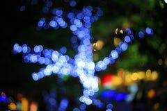 Fondo al neon leggero confuso dell'estratto di notte Immagine Stock