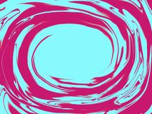 Fondo al neon o olografico creativo del cerchio immagine stock libera da diritti