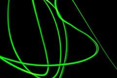 Fondo al neon verde futuristico astratto Immagine Stock Libera da Diritti