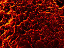 Fondo al suolo del fango della crepa della lava Fotografia Stock Libera da Diritti