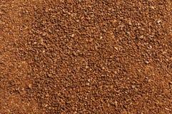 Fondo al suolo di struttura dell'estratto del caffè Arabica di alta qualità Fotografia Stock