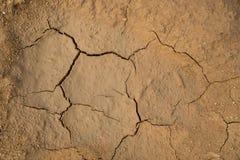 Fondo al suolo secco di struttura del suolo incrinato della terra Fotografia Stock Libera da Diritti
