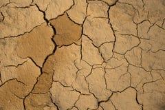Fondo al suolo secco di struttura del suolo incrinato della terra Fotografie Stock Libere da Diritti