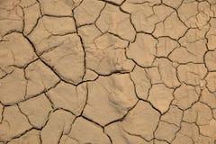Fondo al suolo secco di struttura del suolo incrinato della terra Immagini Stock Libere da Diritti