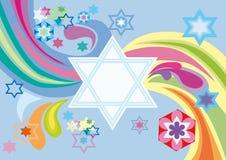 Fondo alegre al día de fiesta judío libre illustration