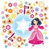 Fondo alegre al Purim libre illustration