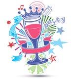 Fondo alegre del día de fiesta con la corona estilizada del monarca 3d Imagen de archivo