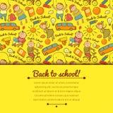 Fondo alegre del vector con los niños Fotografía de archivo