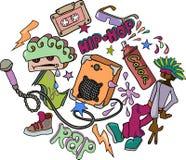 Fondo alegre en hip-hop Foto de archivo libre de regalías