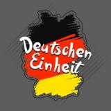 Fondo alemán del concepto del einheit, estilo dibujado mano libre illustration