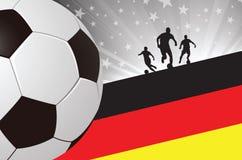 Fondo Alemania del jugador de fútbol Fotos de archivo libres de regalías