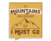 Fondo all'aperto di ispirazione Modello motivazionale di citazione dell'opuscolo della montagna Aletta di filatoio di sport dello Immagini Stock
