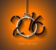 2016 fondo allegro del buon anno e di Chrstmas illustrazione vettoriale