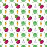 Fondo allegro allegro luminoso dell'azienda agricola con le verdure illustrazione vettoriale