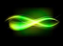 Fondo allineato verde astratto confuso di effetto della luce Immagine Stock Libera da Diritti