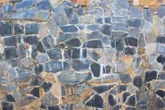 Fondo alto chiuso della superficie della parete di pietra, superficie alta chiusa Fotografie Stock