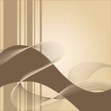Fondo amarillento abstracto con las rayas marrones Foto de archivo libre de regalías