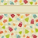 Fondo amarillento de la Navidad Imágenes de archivo libres de regalías