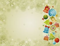 Fondo amarillento de la Navidad, ilustración Fotografía de archivo