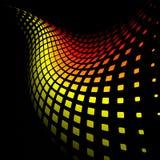 fondo amarillo 3d y rojo dinámico abstracto Fotos de archivo