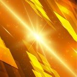 Fondo amarillo abstracto de la tecnología Foto de archivo