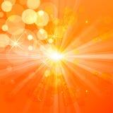 Fondo amarillo abstracto del concepto del summmer Imagen de archivo libre de regalías