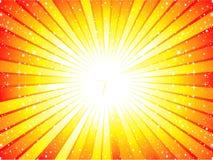 Fondo amarillo abstracto del rayo de sol Imagen de archivo libre de regalías